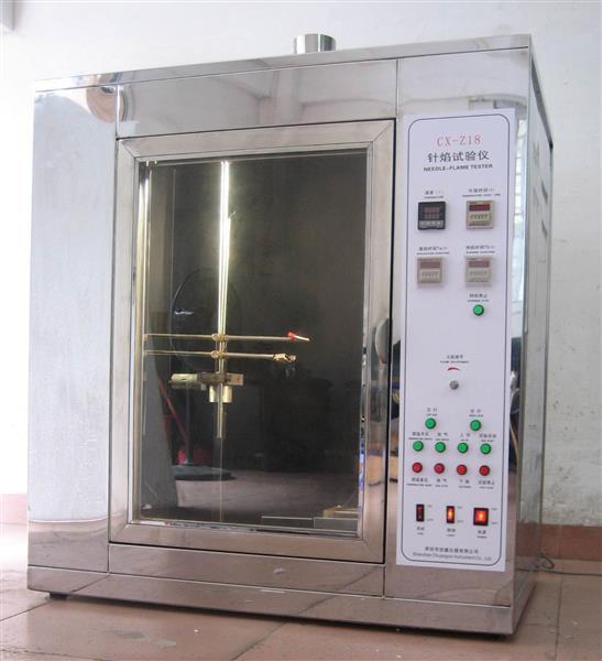 针焰试验方法  针焰试验参数  针焰试验机 丁烷